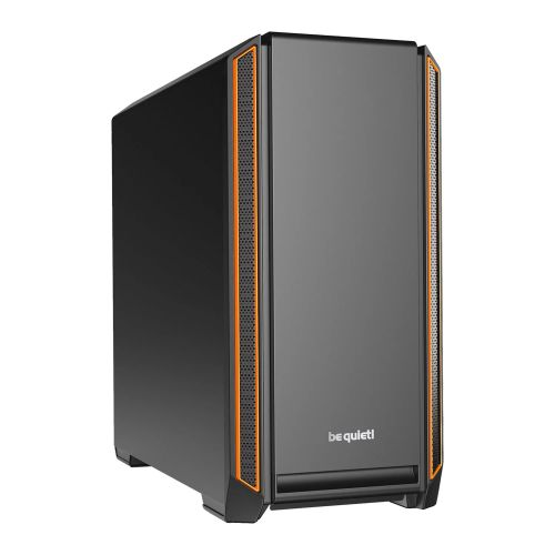 Be Quiet! Silent Base 601 Gaming Case, E-ATX, No PSU, 2 x Pure Wings 2 Fans, PSU Shroud, Orange Trim