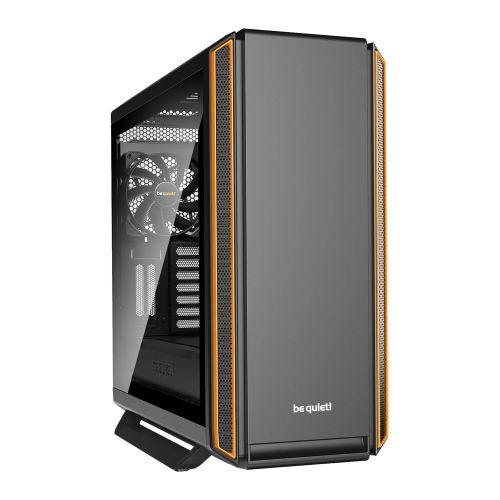 Be Quiet! Silent Base 801 Gaming Case with Window, E-ATX, No PSU, 3 x Pure Wings 2 Fans, PSU Shroud, Orange Trim