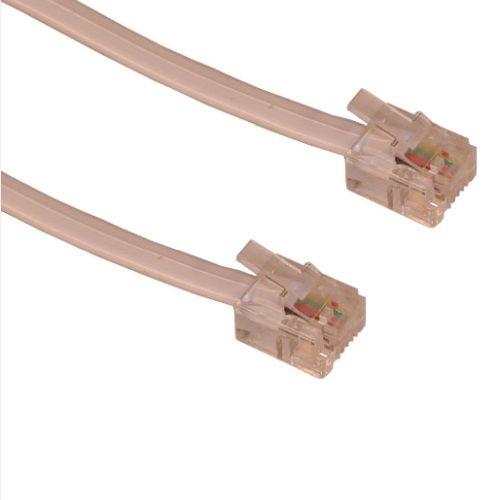 Sandberg RJ11 to RJ11 Cable, 5 Metres, White, 5 Year Warranty