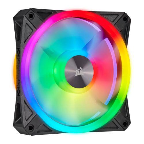 Corsair iCUE QL120 12cm PWM RGB Case Fan, 34 ARGB LEDs, Hydraulic Bearing