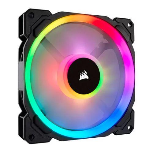 Corsair LL140 14cm PWM RGB Case Fan, 16 LED RGB Dual Light Loop, Hydraulic Bearing