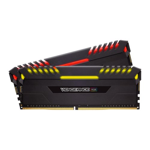 Corsair Vengeance RGB 16GB Kit (2 x 8GB), DDR4, 2666MHz (PC4-21300), CL16, XMP 2