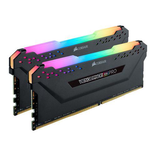 Corsair Vengeance RGB Pro 16GB Memory Kit (2 x 8GB), DDR4, 3000MHz (PC4-24000), CL15, XMP 2.0, Black