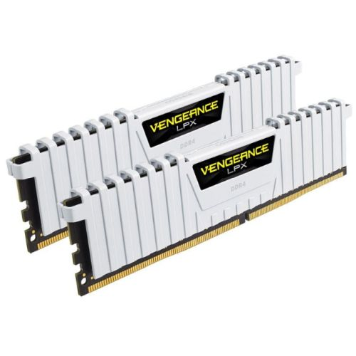 Corsair Vengeance LPX 16GB Kit (2 x 8GB), DDR4, 3000MHz (PC4-24000), CL15, XMP 2.0, DIMM Memory, White