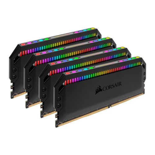 Corsair Dominator Platinum RGB 32GB Kit (4 x 8GB), DDR4, 3200MHz (PC4-25600), CL16, XMP 2.0, DIMM Memory