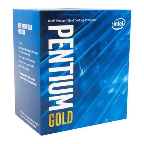 Intel Pentium G5400 CPU, 1151, 3.7GHz, Dual Core, 54W, 14nm, 4MB Cache, HD GFX, 8 GT/s, Coffee Lake