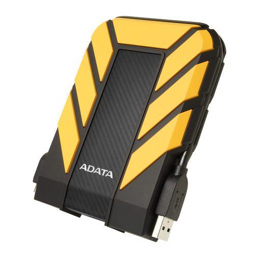 "ADATA 2TB HD710 Pro Rugged External Hard Drive, 2.5"", USB 3.1, IP68 Water/Dust Proof, Shock Proof, Yellow"