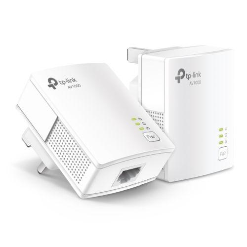 TP-LINK (TL-PA7017 KIT) AV1000 GB Powerline Adapter Kit, 1-Port