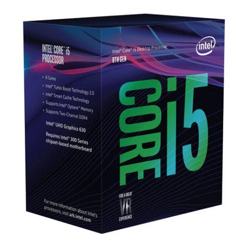 Intel Core i5-8500 CPU, 1151, 3.0 GHz (4.10 Turbo), 6-Core, 65W, 14nm, 9MB Cache