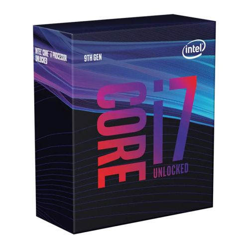Intel Core I7-9700K CPU, 1151, 3.6 GHz (4.9 Turbo), 8-Core, 95W, 14nm, 12MB, Overclockable, NO HEATSINK/FAN, Coffee Lake Refresh