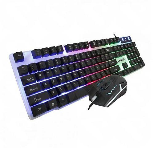 Jedel GK100 RGB Gaming Desktop Kit, Backlit Membrane RGB Keyboard & 800-1600 DPI LED Mouse