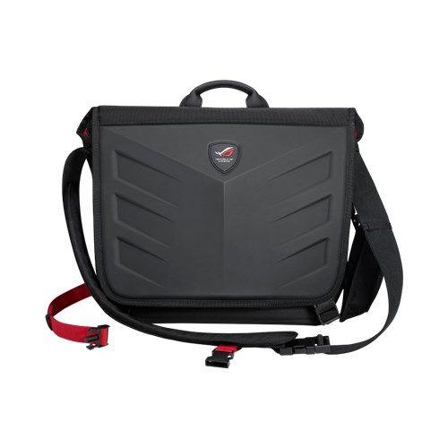 "Asus ROG Ranger Messenger 15.6"" Laptop Carry Case, 1260D Gucci Polyester, Water/Scratch Resistant, Black"