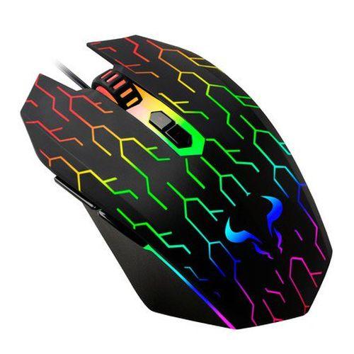 Riotoro URUZ Z5 Lightning Wired Optical RGB Gaming Mouse, 4000 DPI, 6 Programmab