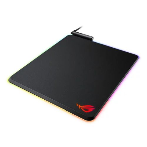 Asus ROG Balteus RGB Gaming Mouse Pad, Customisable Lighting, Non-slip, USB Passthrough, 370 x 320 x 7.9 mm