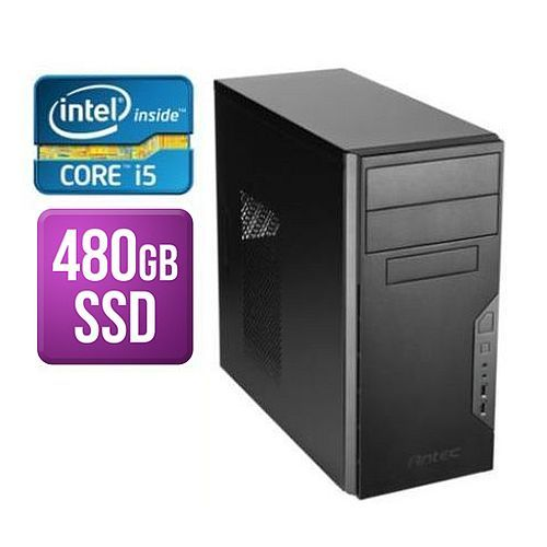 Spire Tower PC, Antec VSK3000B, i5-9400, 8GB, 480GB SSD, Corsair 450W, DVDRW, KB & Mouse, No Operating System