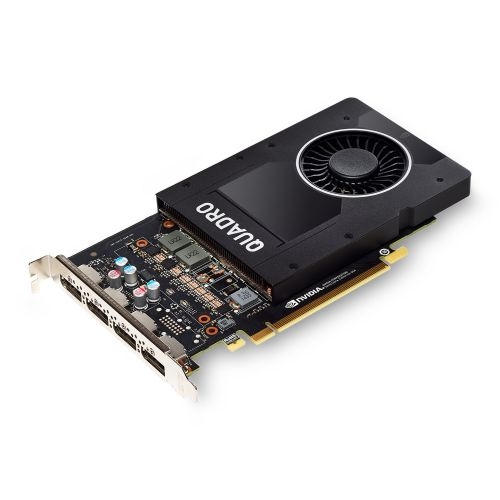 PNY Quadro P2200 Professional Graphics Card, 5GB DDR5X, 1280 Cores, 200GB/s, 3.8 TFLOPs, 4 DP 1.4, Single Slot