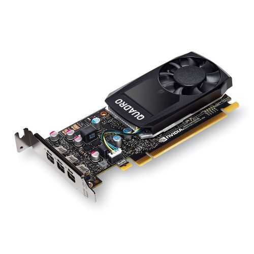 PNY Quadro P400 Professional Graphics Card, 2GB DDR5, 3 miniDP 1.4 (1 x DVI & 3 x DP adapters), Low Profile (Bracket Included)