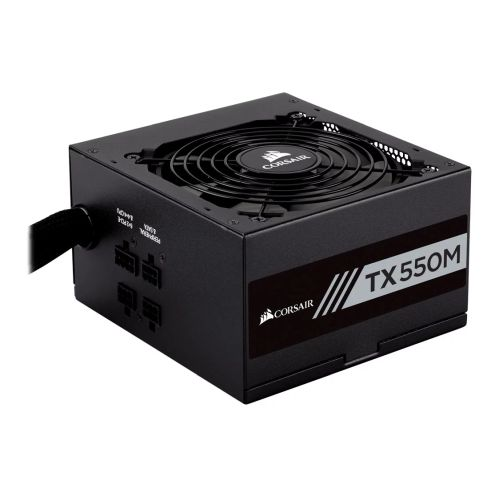 Corsair 550W Enthusiast TX-M Series TX550M PSU, Rifle Bearing Fan, Semi-Modular, 80+ Gold