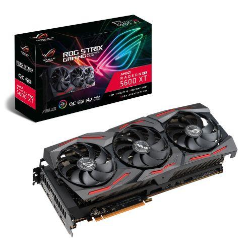Asus ROG STRIX RX5600 XT OC, 6GB DDR6, PCIe4, HDMI, 3 DP, 1770MHz Clock, RGB Lig