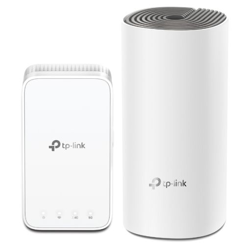TP-LINK (DECO E3) Whole-Home Mesh Wi-Fi System with Extender, 2 Pack, Dual Band AC1200