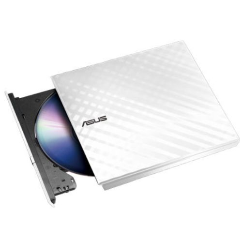 Asus (SDRW-08D2S-U LITE) External Slimline DVD Re-Writer, USB, 8x, White, Cyberlink Power2Go  8