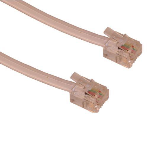 Sandberg RJ11 to RJ11 Cable, 1.8 Metres, White, 5 Year Warranty