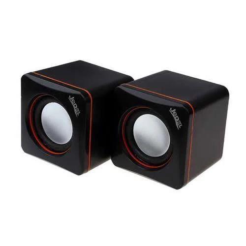 Jedel 2.0 Mini Stereo Speakers, 3W x2, Black