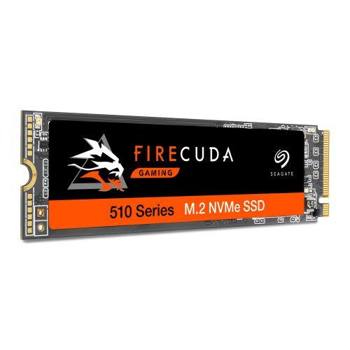 Seagate 1TB FireCuda 510 M.2 NVMe SSD, M.2 2280, PCIe, TLC 3D NAND, R/W 3450/3200 MB/s, 620K/600K IOPS