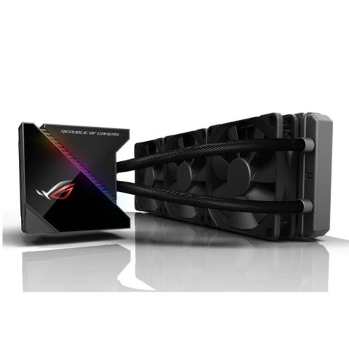 Asus ROG Ryujin 360mm Liquid CPU Cooler, 3 x 12cm Noctua Industrial PPC PWM Fan, Full Colour OLED Display, RGB