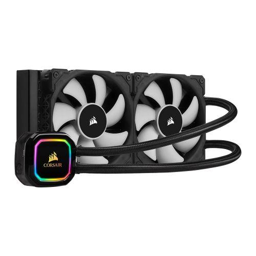 Corsair iCUE H100i RGB PRO XT 240mm RGB Liquid CPU Cooler, 2 x 12cm PWM Fans, 16 RGB LEDs