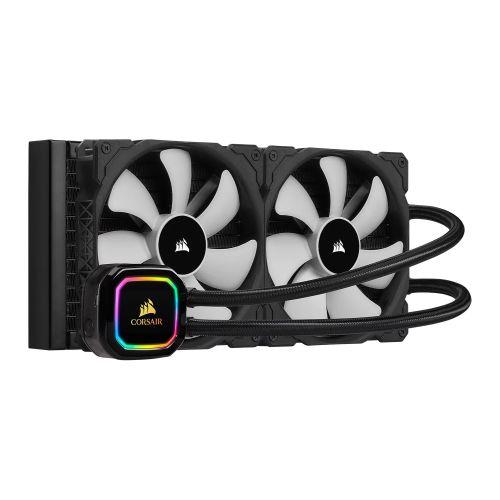 Corsair iCUE H115i RGB PRO XT 280mm Liquid CPU Cooler, 2 x 14cm PWM Fans, 16 RGB