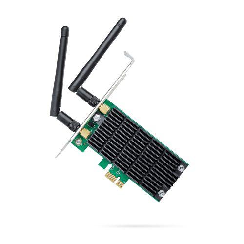 TP-LINK (Archer T4E) AC1200 (300+867) Wireless Dual Band PCI Express Adapter, 2 x External Antenna