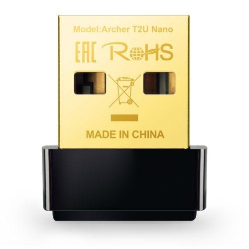 TP-LINK (ARCHER T2U Nano) AC600 (433+150) Wireless Dual Band USB Adapter, Advanced Security