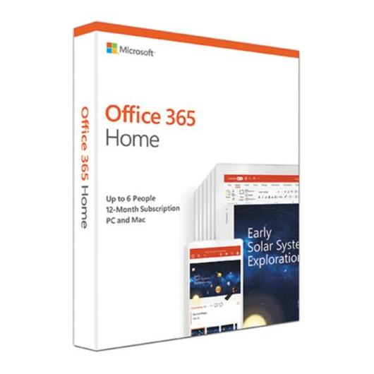 Microsoft Office 365 Home 2019, 6 Users (PCs/Macs, Tablets & Phones), 1 Year Subscription