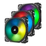 Corsair ML120 Pro 12cm PWM RGB Case Fans x3, Magnetic Levitation Bearing, Lighting Node PRO Kit Included