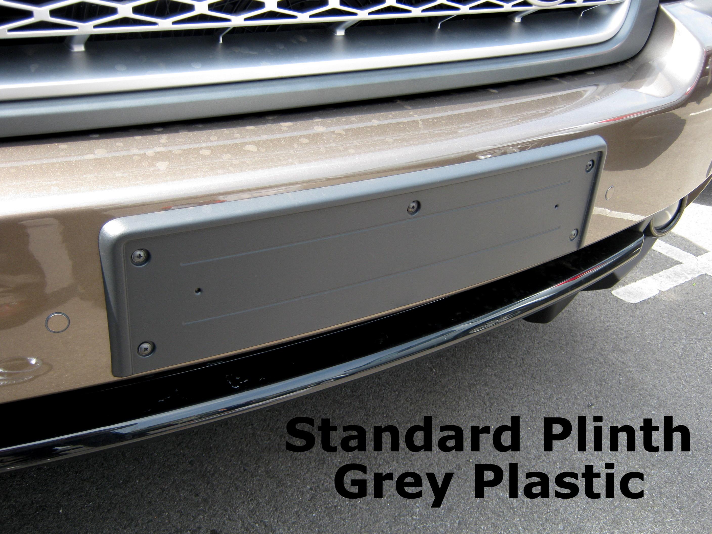 Black front bumper number plate plinth mount frame Range Rover L322 ...