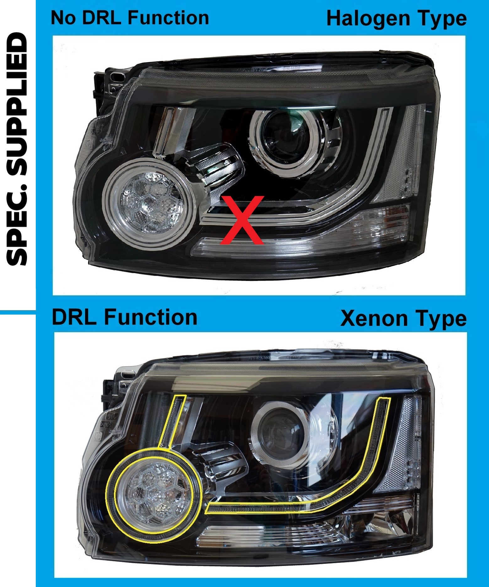 Land Rover Discovery 4 2014 2016 Head Light Lamp N S Lh