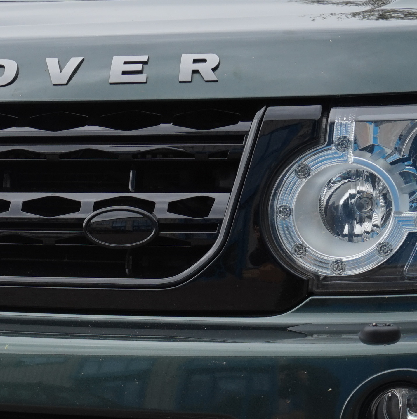 2012 Land Rover Discovery 4 For Sale: Gloss Black Disco 4 Facelift Style Front Grille For Land