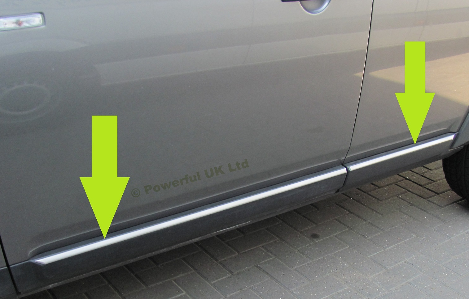Land Rover Discovery 3/&4 bright rear door chrome tailgate finisher trim luxury