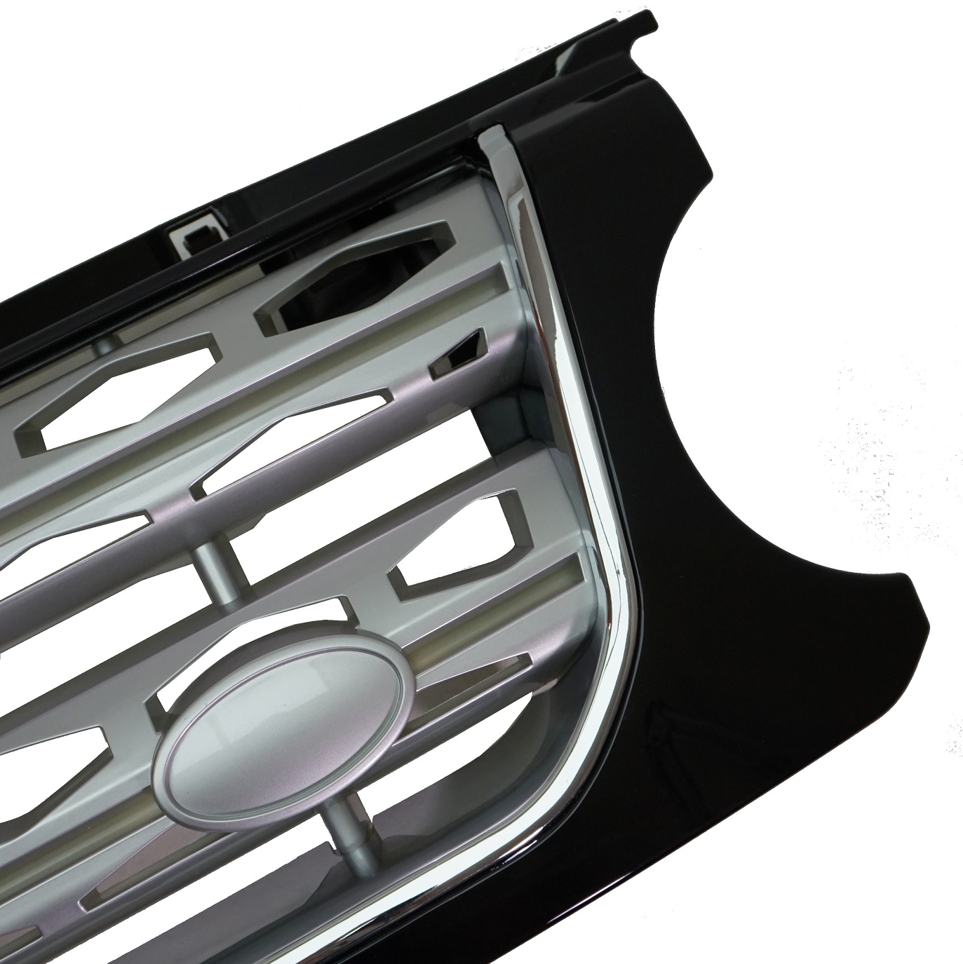Black/Chrome/Silver Disco 4 2014 Style Front Grille Land