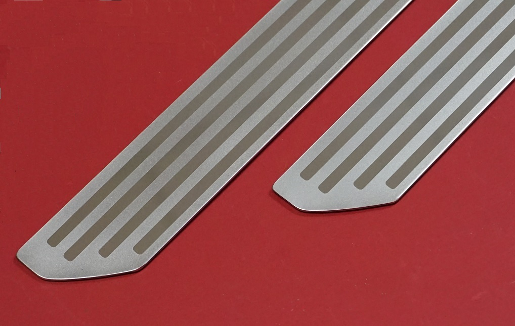 Deployed Side Steps For Range Rover Genuine Accessory: Sill Step Cover Tread Kick Plate Kit Stainless For Range
