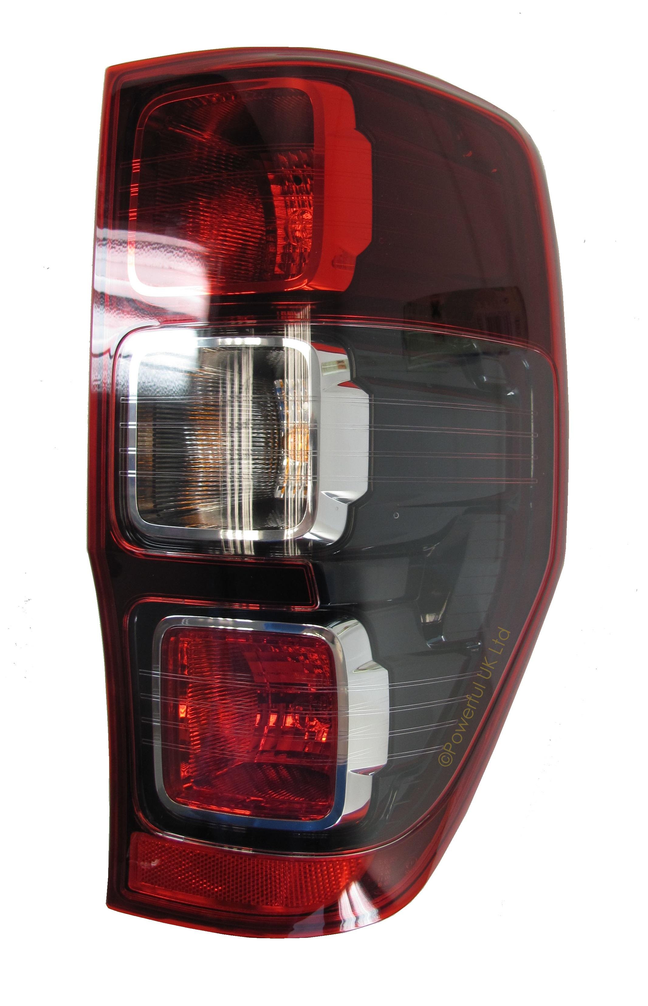 Rear tailight Ford Ranger Red Black Wildtrak lamp N//S 2012 LH Left UK sp