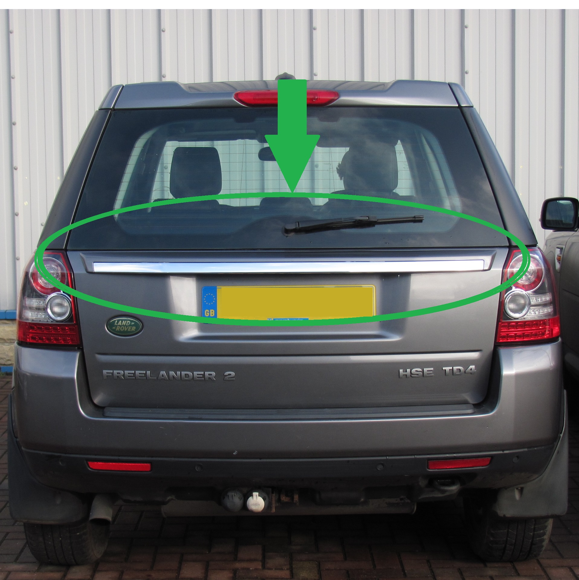 Details about 2012 style rear tailgate upgrade trim panel conversion for  Land Rover Freelander