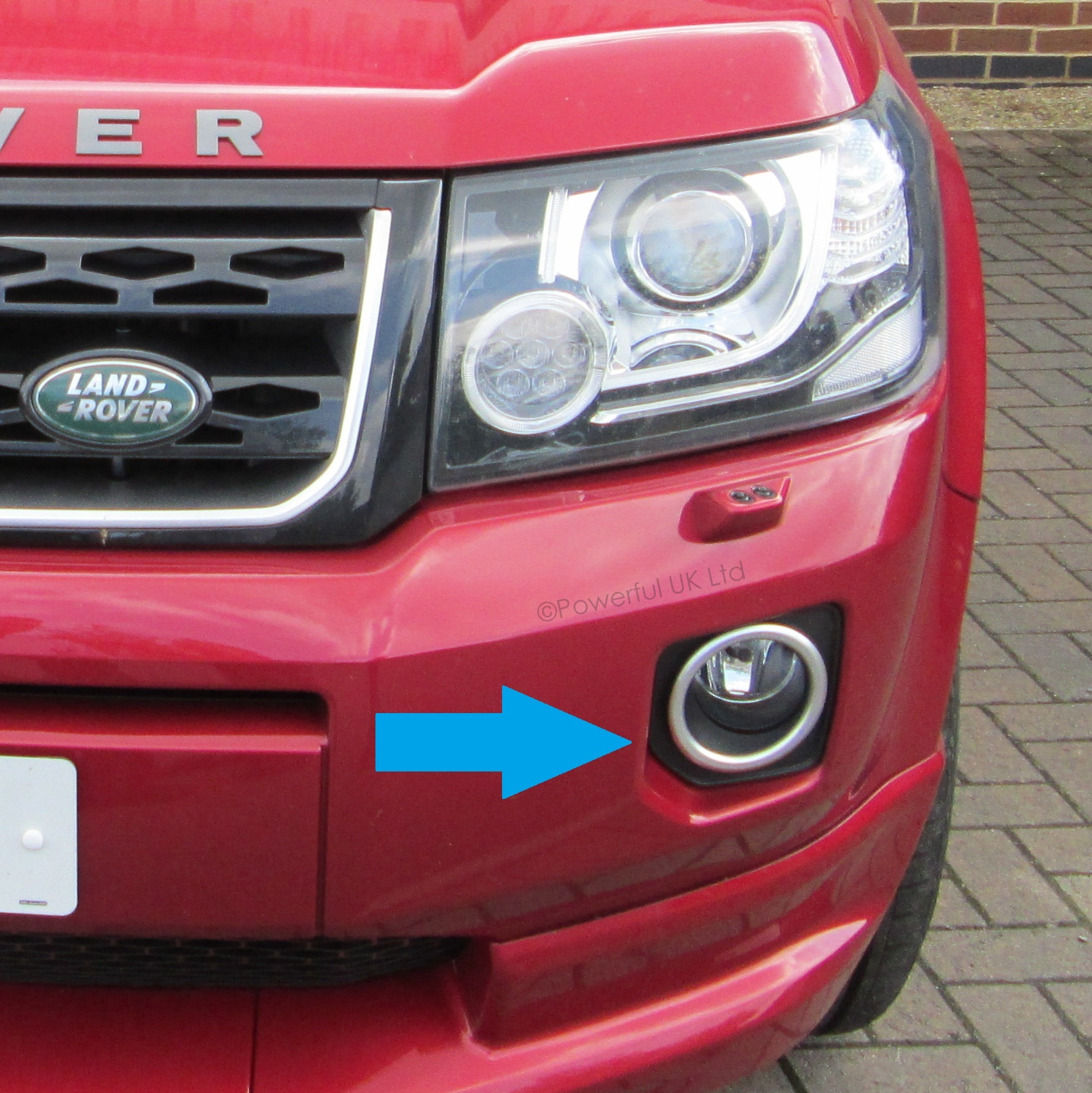 Pair Of Fog Lamp Bezels For Land Rover Freelander 2 2012