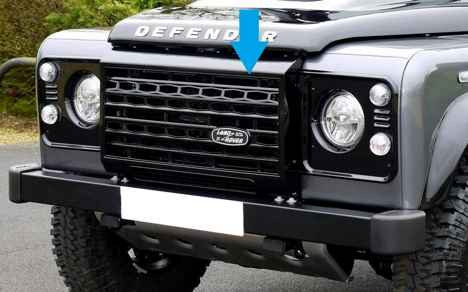 Black Adventure edition style front grille for Land Rover ...