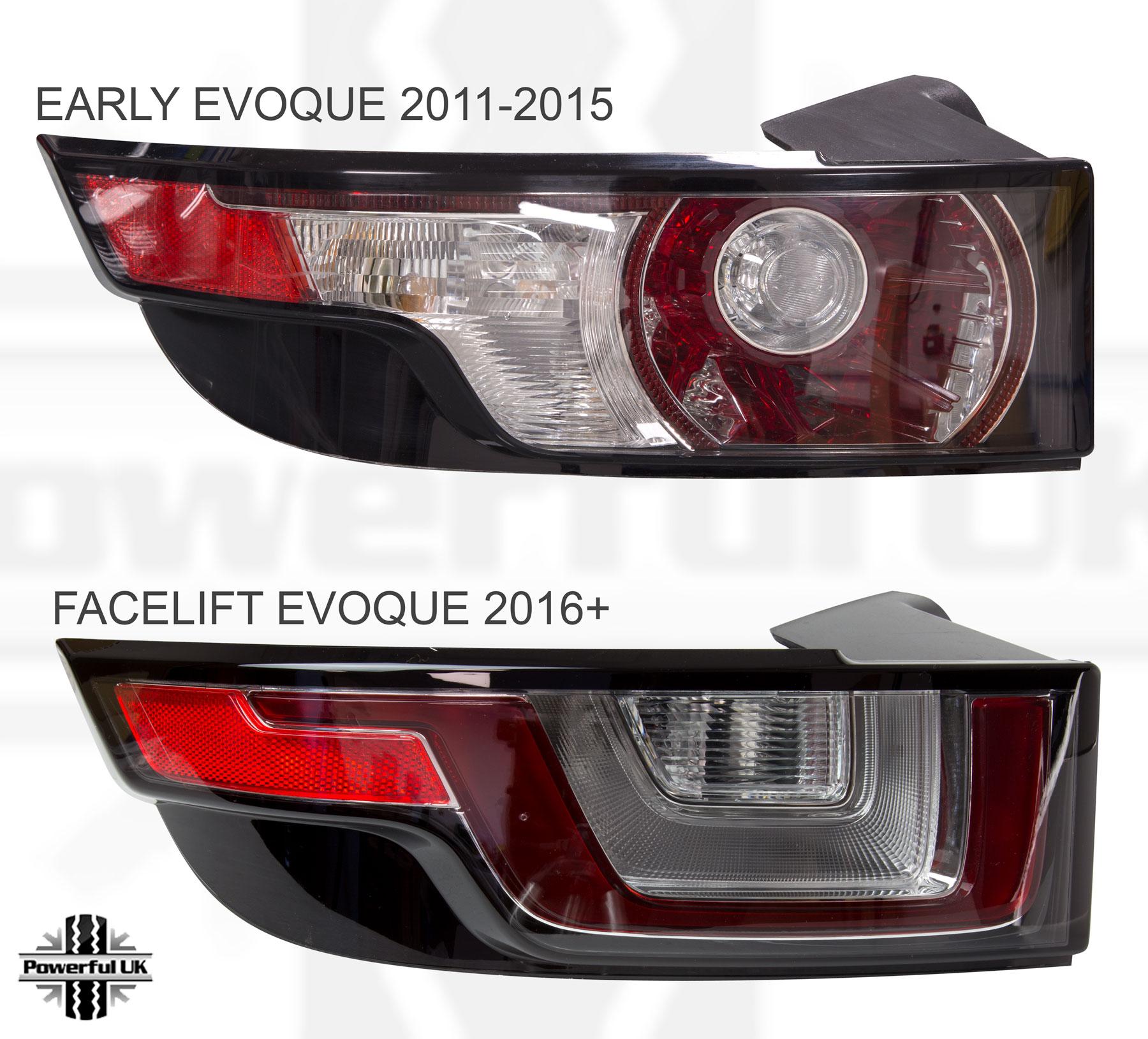 Used 2014 Land Rover Range Rover Evoque Pure Plus For Sale: Feu Arrière Lampe RANGEROVER Font Facelift PURE PRESTIGE