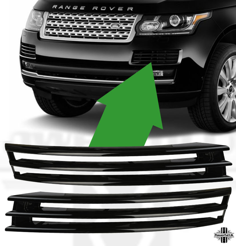 Details About Front Per Duct Intake Vent Blade Grilles For Rangerover L405 Vogue Black Pack