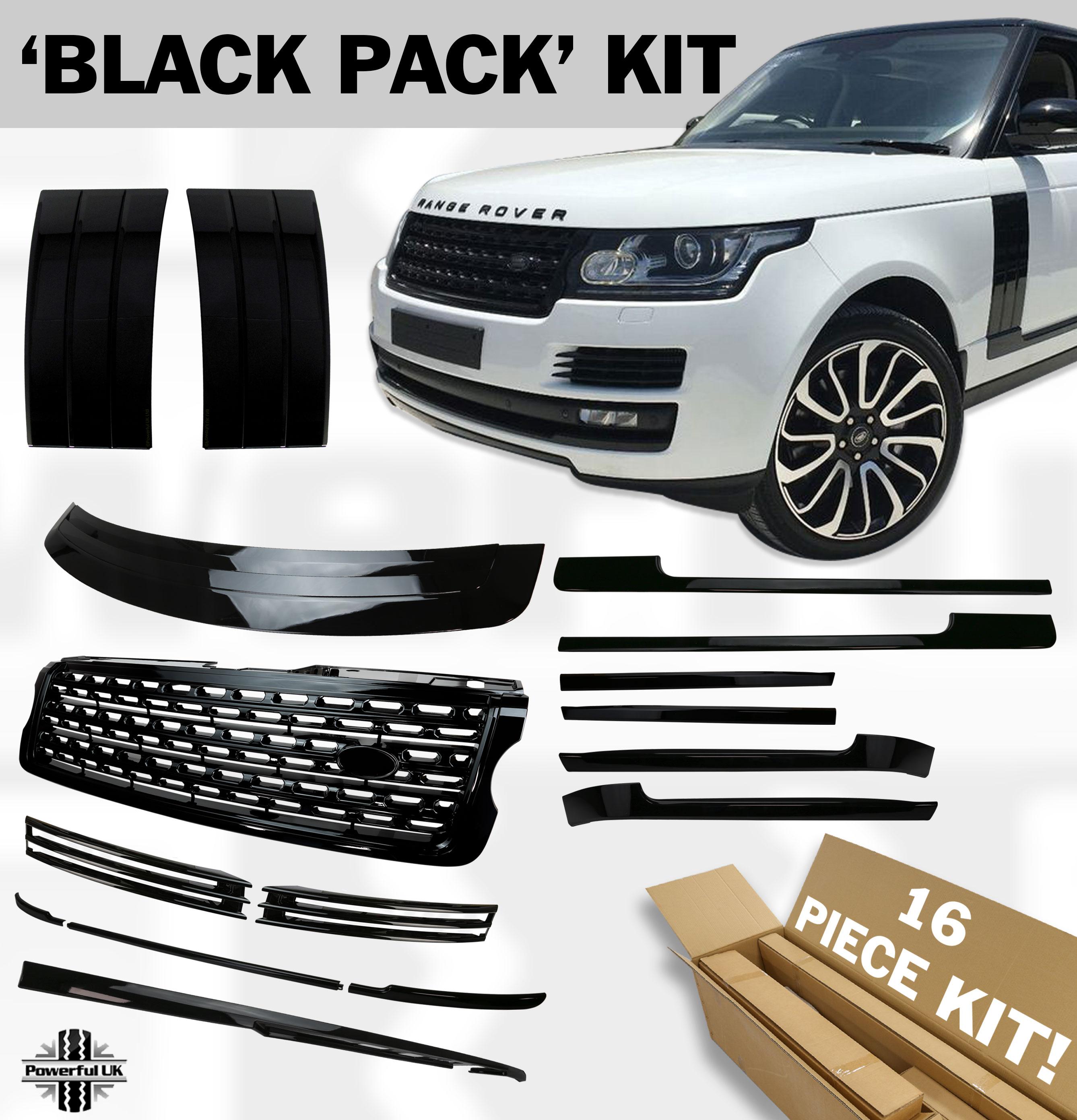 33d3f351dd Details about Styling trim kit set Black Edition stealth design pack for  RangeRover L405 Vogue