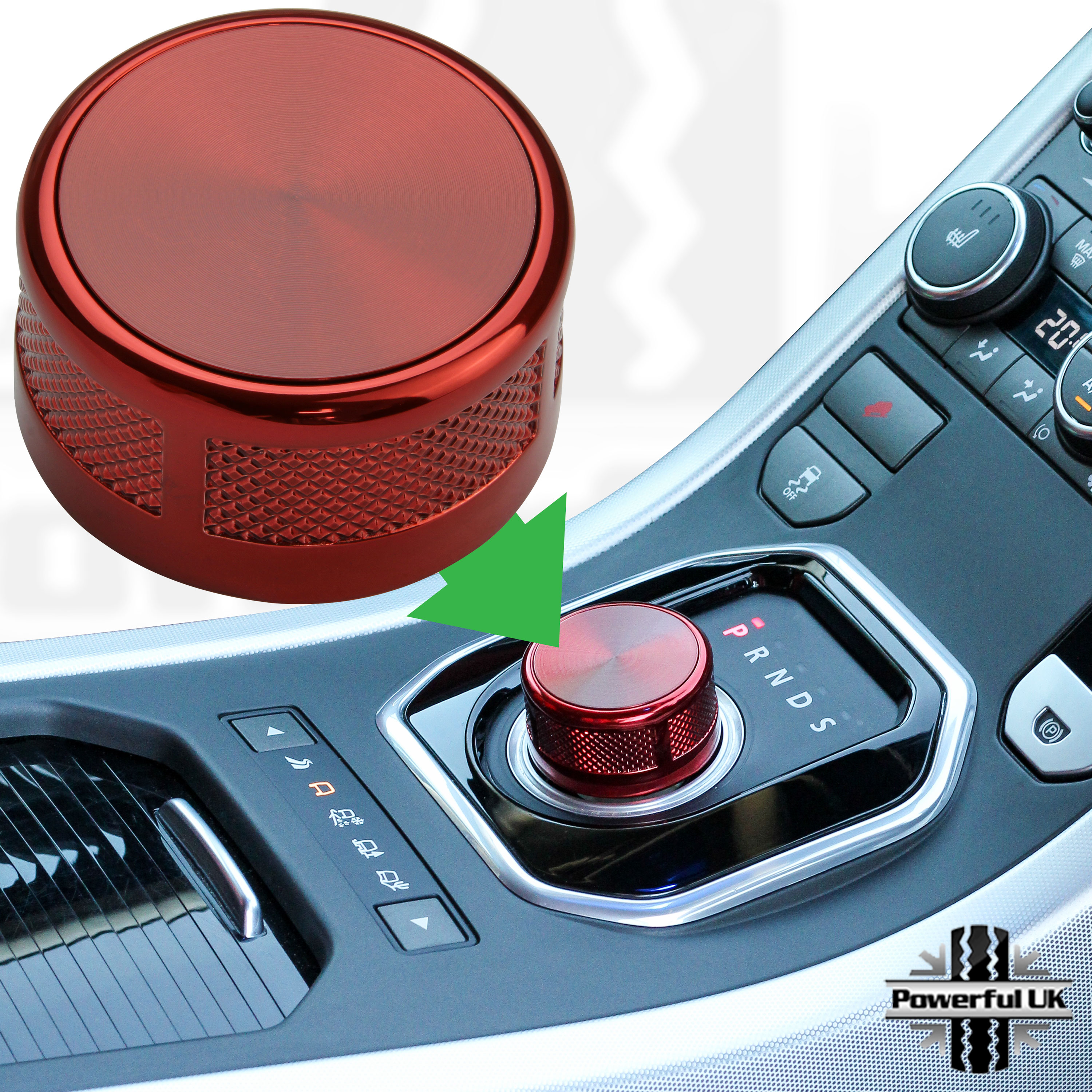 Details about Autobiography style Red rotary gear shift selector knob for  Range Rover Evoque