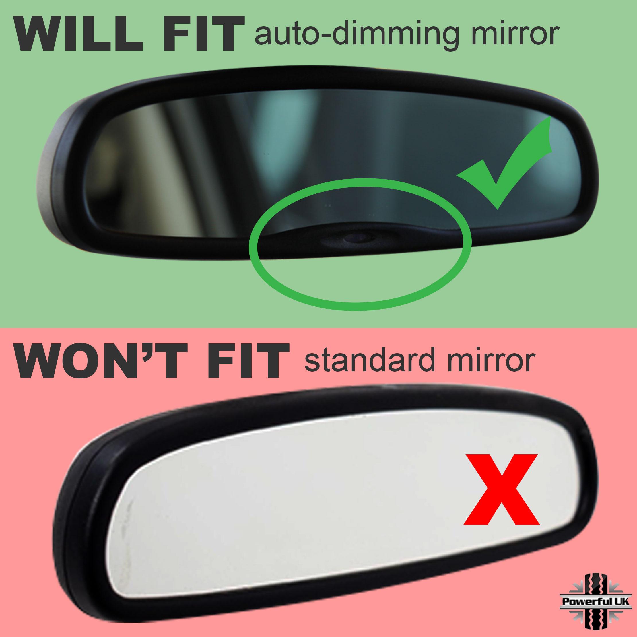 interior rearview mirror frame trim upgrade freelander 2 silverrearview mirror cover trim